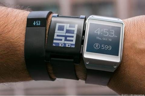 Pebble steel smartwatch