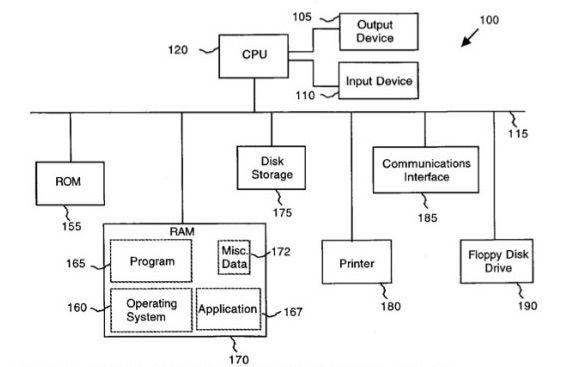 애플의 데이터 태핑 특허권 개념도. (사진=미국 특허청)