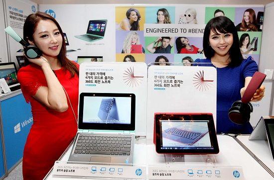 HP, 투인원 대중화 선언…360도 노트북 49만원
