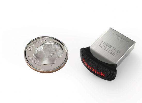 샌디스크, 세계 최소형 128GB USB 메모리 출시