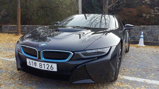 BMW 플러그인하이브리드 스포츠카 'i8'(사진=지디넷코리아)