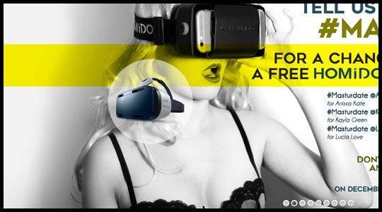 해외 포르노 VR 사이트의 메인 화면
