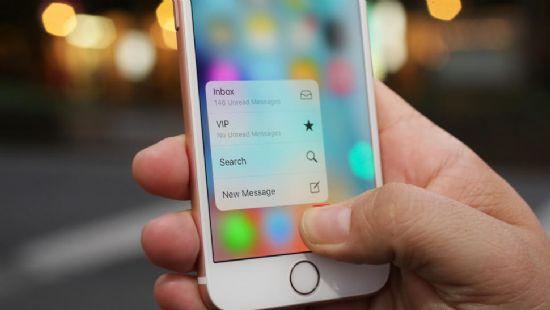 애플 아이폰6s에 탑재된 '3D 터치' 기능 (사진=씨넷)