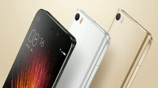 샤오미 새 전략 스마트폰 '미5'는 블랙, 화이트, 골드 세 가지 색상으로 내달 1일 출시된다.