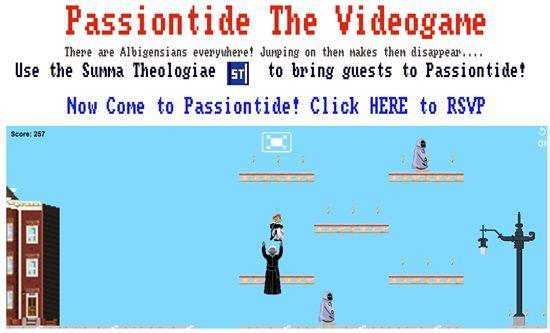 미국 수도사 thanasius Murphy 씨와 자원 봉사자들이 만든 횡스크롤 액션 게임 '수난의 성절 게임'.