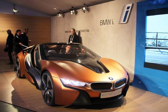 CES 2016에 선보인 BMW i8 기반 퓨처 인터렉션 콘셉트카 (사진=지디넷코리아)