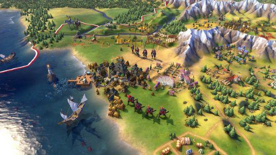 문명6의 게임 플레이 장면.