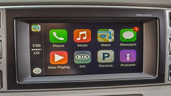 기아자동차 UVO3 시스템을 통해 실행된 애플 카플레이(사진=기아자동차)