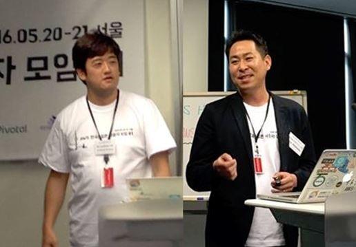커뮤니티 활동의 중요성을 강조하는Toshiyuki 및 Seiji 리더