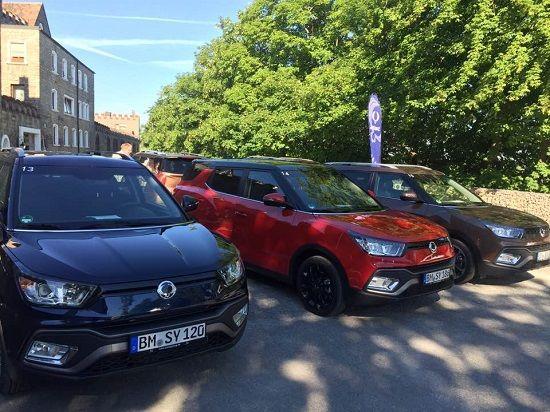 지난 21일과 23일 독일에서 열린 티볼리 에어 론칭 행사(사진=쌍용차)