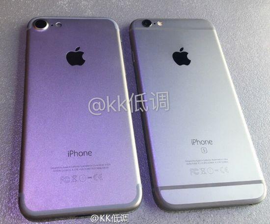 중국 웨이보에 등장한 애플 아이폰7 추정 기기(왼쪽)과 애플 아이폰6S
