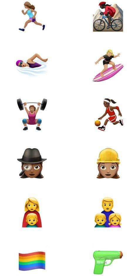 애플이 새롭게 iOS10 운영체제에 추가할 이모지들 (사진=애플)