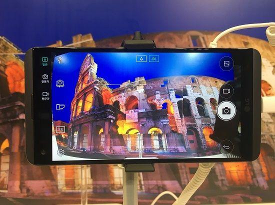LG V20에 탑재된 후면 135도 광각 카메라. (사진=지디넷코리아)