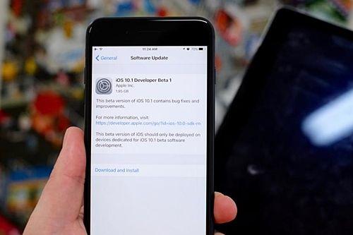 iOS 10.1 베타버전이 23일 배포될 예정이다. (사진=지디넷)