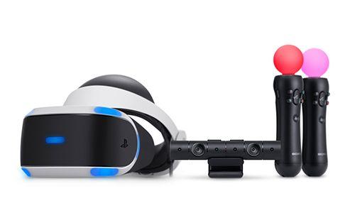 PS VR와 주변기기인 PS 카메라, PS 무브.