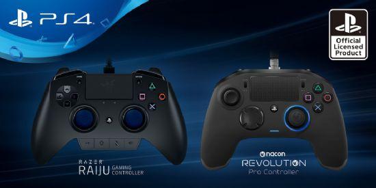 PS4 전용 신규 컨트롤러 레이즈 라이주와 나콘 레볼루션.