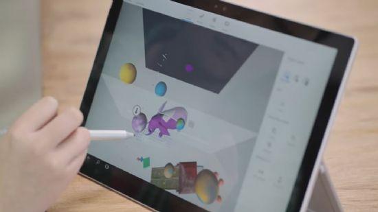 윈도10 새 업데이트에 추가되는 '페인트 3D' 프리뷰 버전이 공개됐다. (사진=유튜브 캡처)