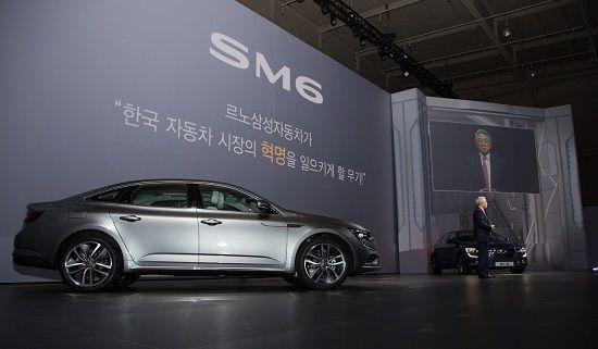 SM6 공개행사에서 박동훈 르노삼성 사장이 인사말을 하고 있다(사진=르노삼성)