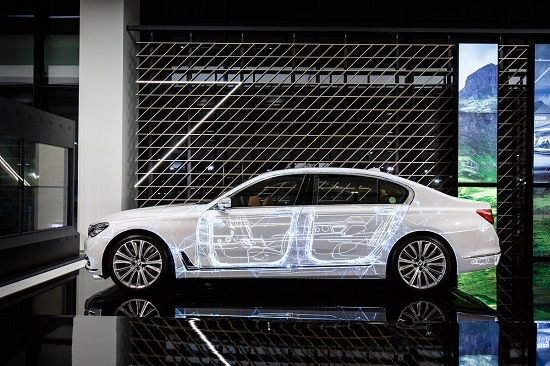 BMW 뉴 7시리즈 프로젝션 맵핑(사진=BMW 코리아)