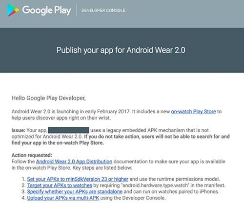 구글은 최근 이메일을 통해 개발자들에게 안드로이드 웨어 2.0 출시 계획을 밝혔다.