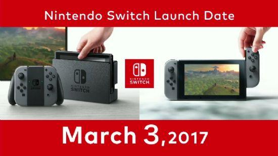 3월 3일 미국, 일본, 캐나다 및 주요 유럽 국가에 우선 출시하는 닌텐도 스위치.