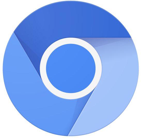 크로미엄 로고. 크로미엄은 구글 브라우저 크롬의 오픈소스 버전이다.