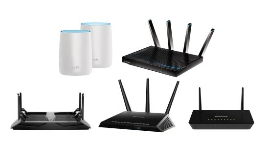 넷기어 무선 와이파이 공유기 제품군 (위부터 좌우 순서대로)오르비(RBK50), R8500, R8000, R7000, R6220 (사진=넷기어코리아)