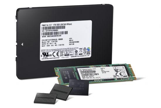 삼성전자 4세대(64단) 256Gb 3bit V낸드 칩과 이를 기반으로 한 SSD 제품 (사진=삼성전자)