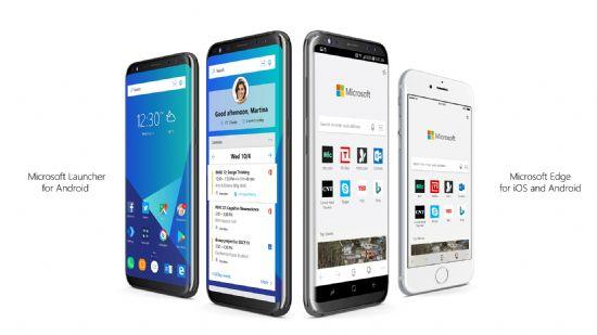 마이크로소프트는 iOS 및 안드로이드 기기용 엣지 모바일 브라우저 앱 프리뷰 버전을 소개하면서 과거 애로우(Arrow)라는 이름으로 선보였던 론처 앱을 '마이크로소프트 론처'라는 이름으로 공식 배포하기 시작했다.