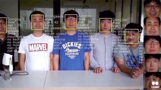 라이봇의 얼굴 탐지 및 인식 기술.
