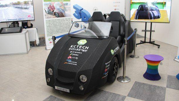 3D프린터로 49시간만에 인쇄한 탄소 전기차, 커뮤터카. 최대 45킬로미터까지 달린다. (사진=지디넷코리아)