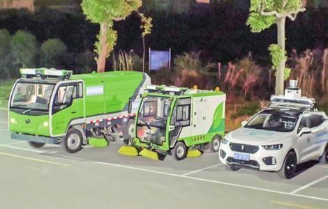 셴투(Xizntu)스마트과기유한회사가 개발한 자율주행 청소트럭 이미지. 왼쪽이 중형, 오른쪽이 소형. (사진=쑹장신문망)