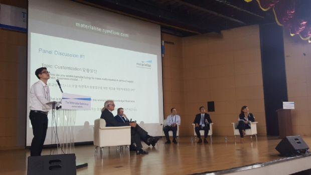 13일 울산대학교에서 열린 컨퍼런스에 참여한 발표자들이 3D프린팅 산업 전망에 대해 이야기하고 있따.(사진=지디넷코리아)