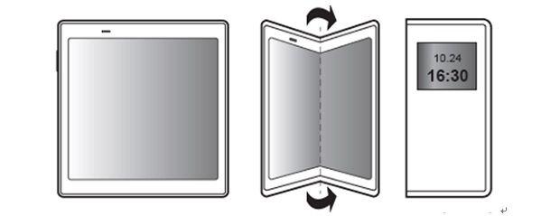 삼성전자 폴더블 스마트폰 예상 구조.(사진=유비리서치)