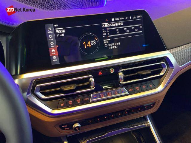 BMW 7세대 3시리즈 실내 센터페시아 (사진=지디넷코리아)