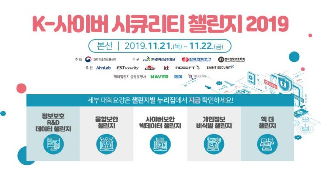 KISA, 'K-사이버 시큐리티 챌린지' 본선 21일 개최