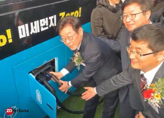 국내 최대 규모 전기버스 충전소, 수원에 준공...96대 충전 가능