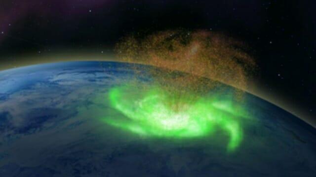 물 대신 전자를 방출하는 '우주 허리케인'감지