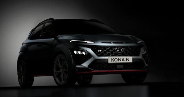 현대 자동차, Kona N Design Teaser 삼각형 보조 브레이크 라이트 적용
