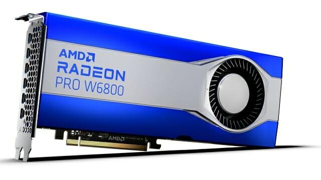 라데온 프로 W6800 탑재 그래픽카드. (사진=AMD)